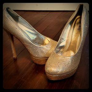 Deb Silver sequin stilettos